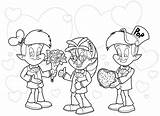 Rice Krispies Snap Pop Crackle Coloring Characters Valentines Template Sketch sketch template
