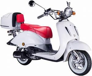 Motorroller 50 Ccm : gt union motorroller strada 50 ccm wei rot otto ~ Kayakingforconservation.com Haus und Dekorationen