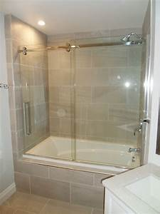 Douches de verre sur mesure douche de verre gd for Porte vitrée douche sur mesure
