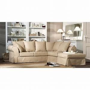 Canape d39angle wilson ii beige interior39s for Tapis kilim avec canape angle tissu 7 places