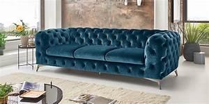 Big Sofa Türkis : chesterfield sofa modern samt t rkis 3 sitzer big emma moebella24 ~ Eleganceandgraceweddings.com Haus und Dekorationen