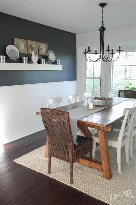 Dining Room Wall Ideas by Farmhouse Table And Dining Room Makeover In 2019