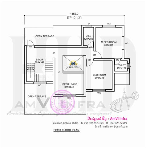 Floor Plan Template Powerpoint by Residence With Office Keralahousedesigns