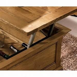 Table Chene Massif : table basse ch ne massif naturel benodet meubles elmo ~ Melissatoandfro.com Idées de Décoration