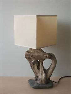 Lampe Chevet Bois Flotté : lampes poser avec galet et bois flott ~ Teatrodelosmanantiales.com Idées de Décoration