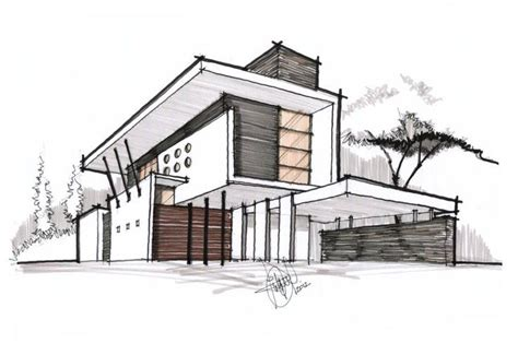 Decorative House Plan Sketches by Architectural Sketch With Border Lines 199 Alakalem