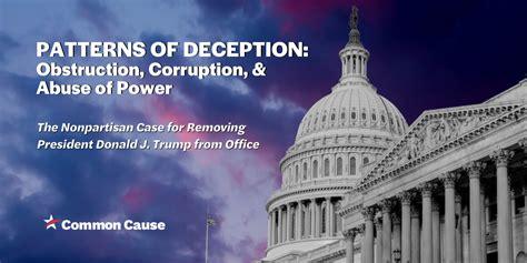 patterns  deception obstruction corruption abuse