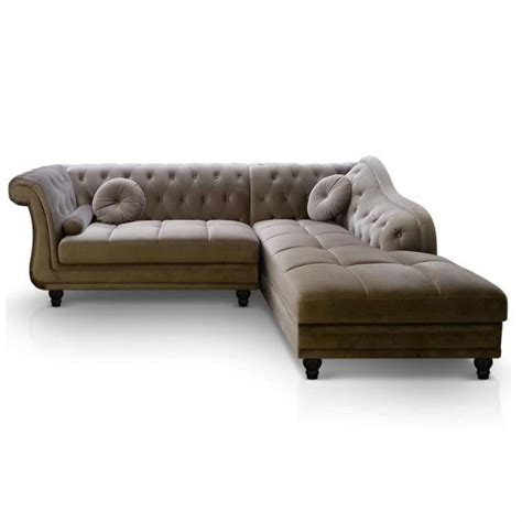 canapé chesterfield photos canapé chesterfield velours taupe