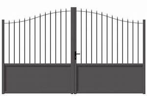 Portail En Aluminium : portail alu malcombe coulissant battant ajour barreaudage ~ Melissatoandfro.com Idées de Décoration