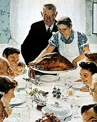 Image result for norman rockwell sunday dinner