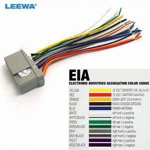 Leewa 10pcs Car Audio Stereo Wiring Harness For Honda