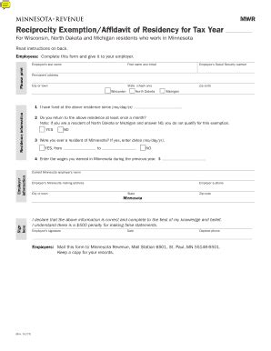 wisconsin tax exempt form fillable fillable online mwr reciprocity exemption affidavit of