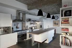 Cuisine Style Industriel Bois : cuisine style industriel une beaut authentique ~ Teatrodelosmanantiales.com Idées de Décoration