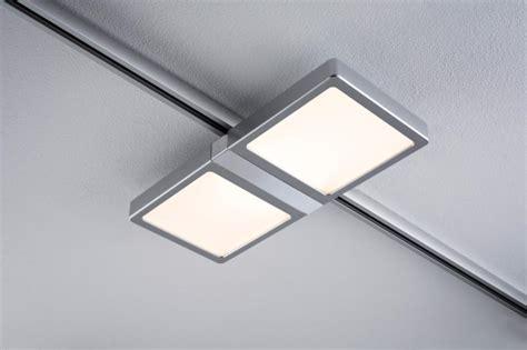 eclairage tableau eclairage sur rail plafond led spot panel 2x4w paulmann eclairage