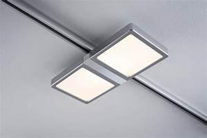 Led Schienensystem Komplettset : eclairage tableau eclairage sur rail plafond led spot panel double 2x4w paulmann ~ Indierocktalk.com Haus und Dekorationen