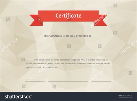 vector certificate background modern flat style stock