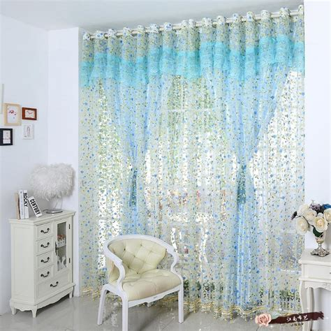 korean window curtains set for living room lace