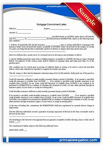 free printable mortgage commitment letter form generic With loan commitment letter template