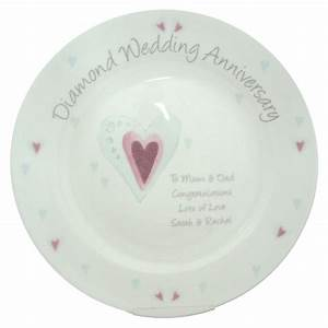 diamond 60th wedding anniversary personalised plate unique With 60th wedding anniversary gift