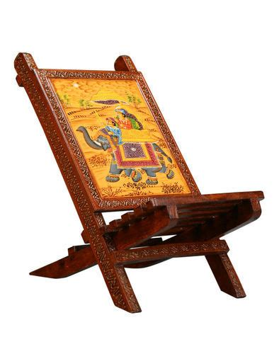 rajasthani wooden painted chair rs pieces