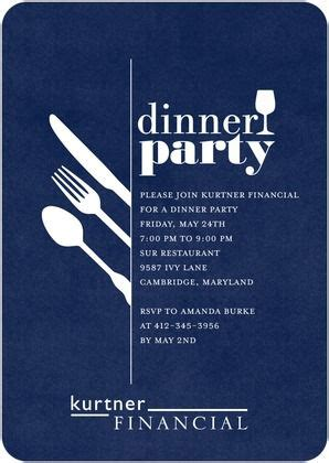 Corporate Event Invitations Darling Dinner Party Front
