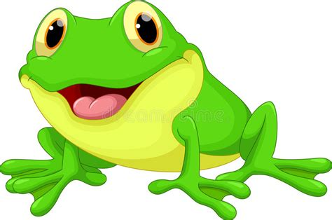 Cute Frog Cartoon Stock Illustration. Illustration Of