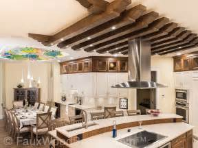 Image of: Stunning Kitchen Ceiling Treatment Faux Wood Workshop Ceiling Designs For Living Room European Style