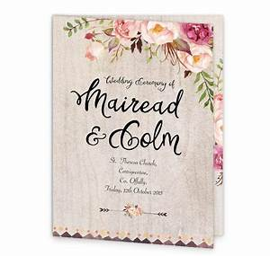 flowering affection mass booklet cover loving invitations With wedding invitations and mass booklets