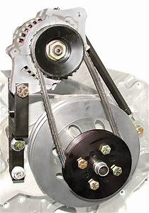Cms77222-kit - Chevy 1-wire Race Car Alternator Kit For Long Water Pump
