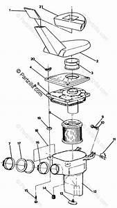 Polaris Atv 1992 Oem Parts Diagram For Air Box Assembly