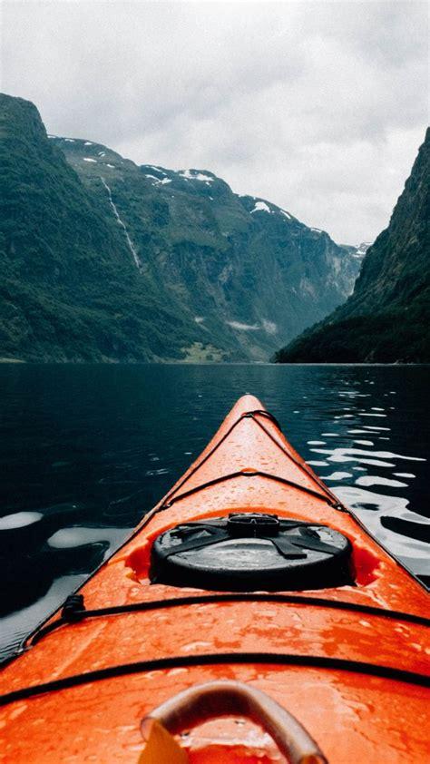 wallpaper canoe scandinavia europe  nature