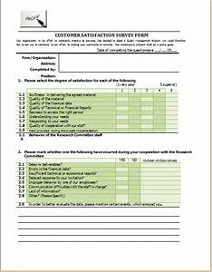 customer satisfaction survey form template at http www With new customer questionnaire template