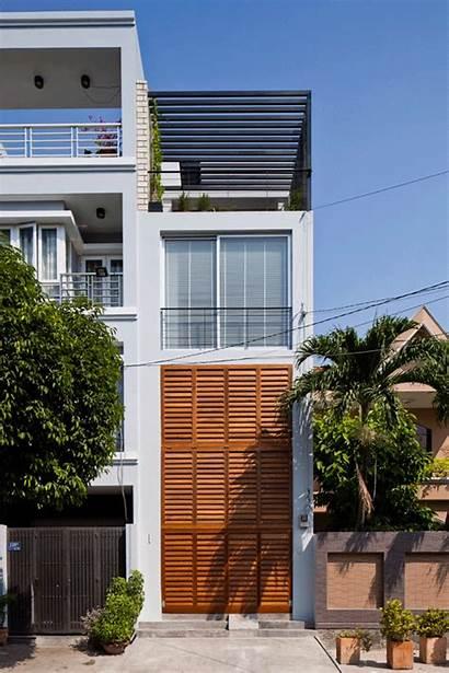 Architects Mm Shutter Townhouse Houses Folding Vietnam