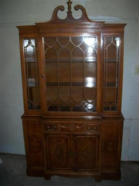 antique breakfront china cabinet walnut sears roebuck ebay