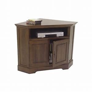 Meuble Bois Brut : meuble tv d 39 angle bois brut ~ Teatrodelosmanantiales.com Idées de Décoration
