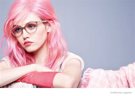 Charlotte Free Pink Hair For Chanel Eyewear Fall 2014 Campaign