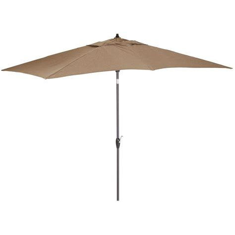 9 ft patio umbrella with solar lights hton bay 9 ft rectangular aluminum solar patio