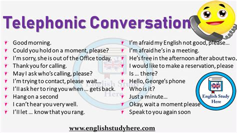 telephonic conversation english study