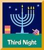 Third Night of Hanukkah   Hanukkah.Chanukah   Pinterest
