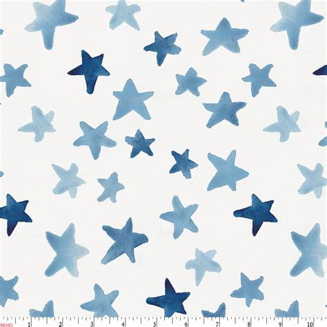 toddler bed blue watercolor fabric by the yard blue fabric