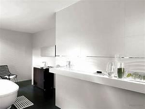 stunning salle de bain faience blanche contemporary With faience blanche salle de bain