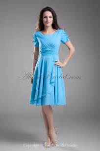 cocktail dresses for wedding allens bridal chiffon square knee length sleeves a line cocktail dress