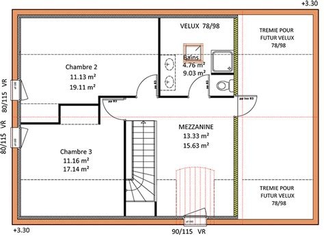 Plan Maison Etage 3 Chambres by Les Constructions De Maisons En Projet En Loire Atlantique 44