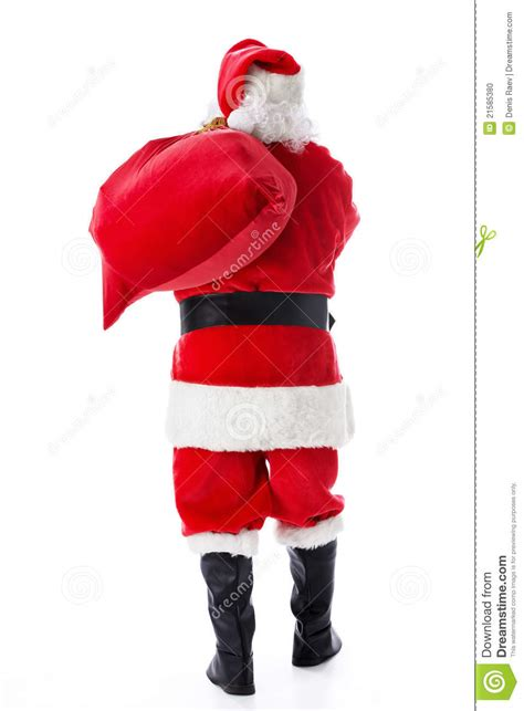 santa claus with a sack stock photo image 21585380