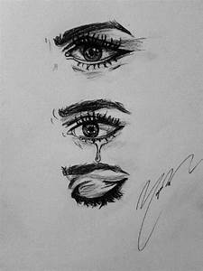 Black And White Eyes Crying Drawings | www.imgkid.com ...