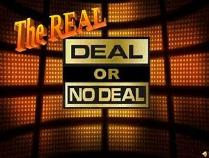 Deal or no deal powerpoint game show template by teacher for Deal or no deal powerpoint game template