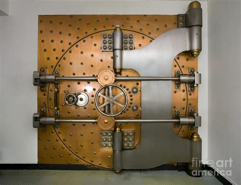 Bank Vault Door Exterior Photograph By Adam Crowley
