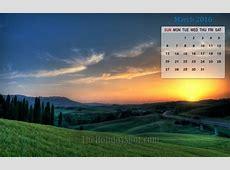 March 2016 Calendar Wallpaper Wallpapers from TheHolidaySpot