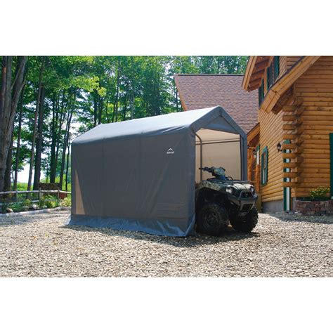 shelter logic shed shelterlogic sport shed in a box snowmobile motorcycle