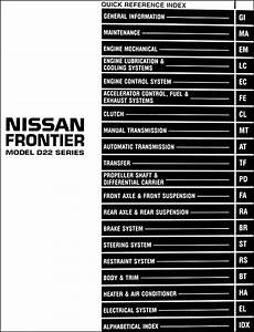 1998 Nissan Frontier Pickup Truck Repair Shop Manual Original